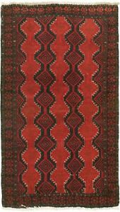 Vintage Hand Knotted Carpet 3 3 X 5 10 Traditional Oriental Wool Area Rug