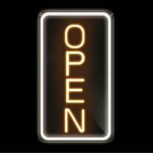 16 x 9 Led Neon Open Sign For Business Ultra Bright Lighted Sign Open Electr