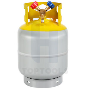 R410a r134a Refrigerant Recovery Tank With Y Valve 30lb Pound 400 Psi New
