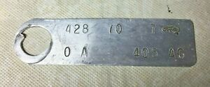 1970 Ford 428 Q Code Engine Identification Tag Cobra Jet Shelby Gt 500 Mach 1 Fe