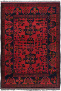 Vintage Hand Knotted Carpet 3 3 X 4 9 Traditional Oriental Wool Area Rug