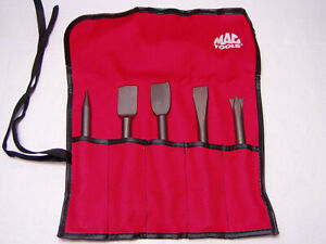 Mac Tools Air Hammer 401 Shank Bit Set New In Red Pouch