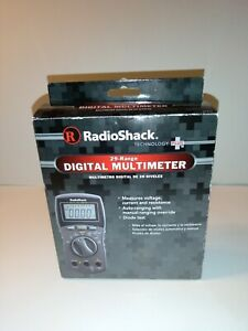 Digital Multimeter Radio Shack With Leads Cat 22 813 New Open Box
