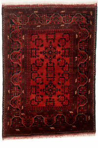 Vintage Hand Knotted Carpet 3 4 X 4 7 Traditional Oriental Wool Area Rug