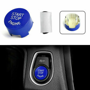 Start Stop Engine Button Switch Cover For Bmw F20 F10 F01 F48 F26 F15 F16 Blue