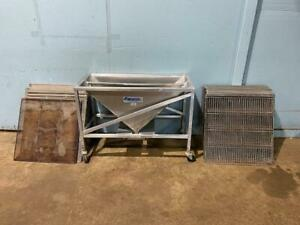 24 Belshaw Ss Donut Frying Screen 23x23 24 Glazing Rack 24x24 With Avalon Cart