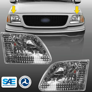 Aftermarket Headlights For 1997 2003 Ford F 150 2004 Heritage Chrome Headlamps