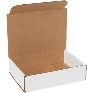 8 X 6 X 2 White Corrugated Mailing shipping Boxes Ect 32b 500 Pieces