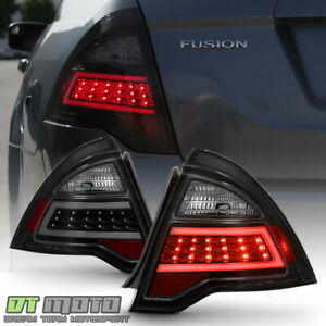 Black Smoked 2010 2012 Ford Fusion Led Tube Tail Lights Brake Lamps Left Right