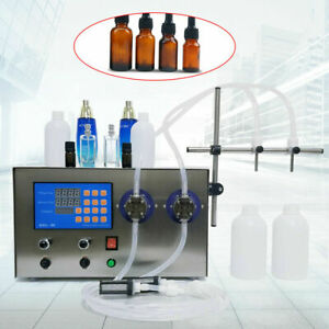 Magnetic Drive Pump Filling Machine Double Head 110v Stainless Filler 4000ml