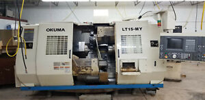 Twin Turrett Twin Spindle Live Tooling C And Y Axis Okuma Lt15my Cnc Lathe