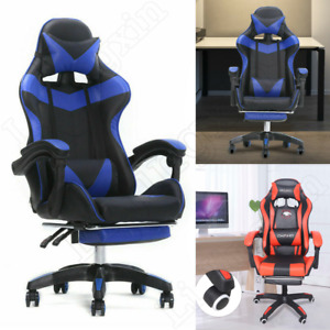 Executive Gaming Chair Massage Reclining Swivel Office Chair Desk W Footrest