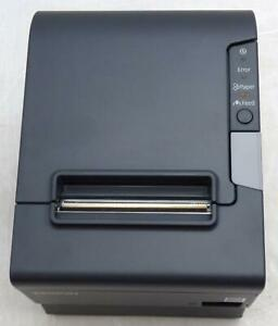 Epson Tm t88v M244a Pos Thermal Receipt Printer Ethernet And Usb W Power Supply