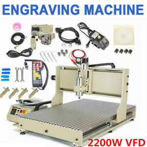 Usb Cnc 6090 Router 4axis Engraver Wood Carving Mill Machine 2 2kw W Controller