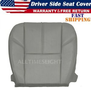 For Chevy Silverado 1500 2007 2013 Driver Bottom Leather Seat Cover Gray T