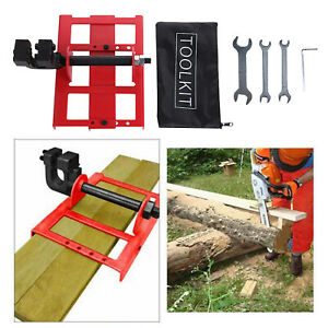 Vertical Cutting Chainsaw Mill Steel Lumber Cutting Guide For Woodworkers