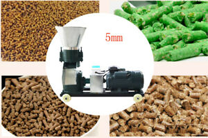 Large Output 5mm Chicken duck gooes Feed Pellet Mill Machine 220v 3kw 80kg h