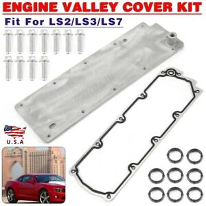 Engine Valley Cover Set For Gm Performance Parts Chevrolet Ls2 Ls3 Ls7 Wo Pcv