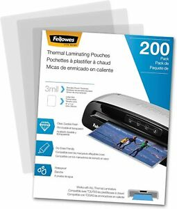 Thermal Laminating Pouches Letter Size 9 X 11 5 in 3 Mil 200 Pack 5743401
