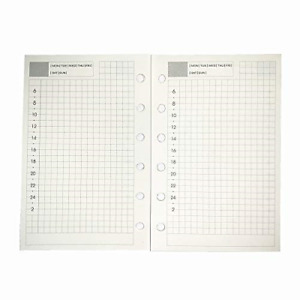 A7 Planner Refill A7 Agenda Refill Daily Plan For Filofax 6 Hole 100gsm Time 6