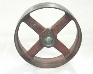 Vintage Cast Iron 8 x2 1 4 flat Belt Pulley Hit And Miss Engine steampunk D cor