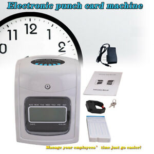 Calculating Time Clock Bundle Employee Attendance Punch Time Clock With 50 Cards