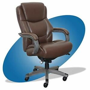 Delano Big Tall Executive Office Chair High Brown With Weathered Gray Wood
