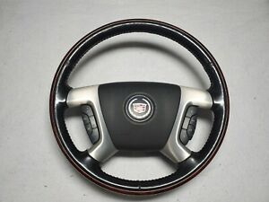 2007 2010 Cadillac Escalade Ext Leather Heated Steering Wheel Oem W Control