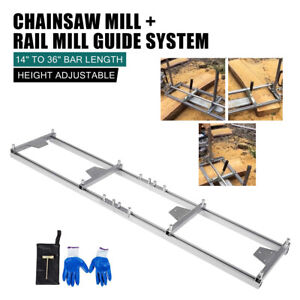 Portable Chainsaw Mill Planking For Builders And Woodworkers 9ft Mill Guide