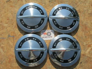 1964 66 Ford F100 Pickup Truck 64 Galaxie Poverty Dog Dish Hubcaps Set Of 4
