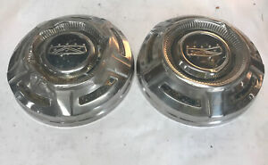 Vintage Ford Truck Hub Caps Pair 69 75 F250 F350 Oem Poverty Hubcaps 12 889