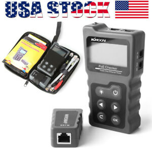 Lcd Digital Poe Wire Checker Network Cable Tester Tracer Voltage Current H3q7
