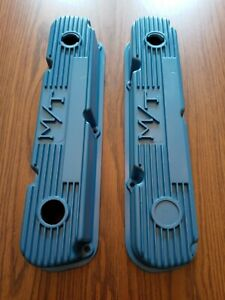 Vintage Holley M T Mickey Thompson Mopar Small Block Valve Covers 318 340 360
