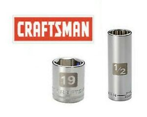 New Craftsman Easy To Read Sockets 1 2 3 8 Drive Shallow Deep Metric Sae In