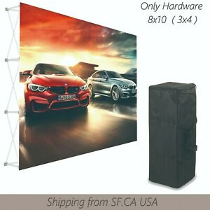 8 x10 tension Fabric Backdrop Booth Frame Straight Pop Up Display Stand 3x4