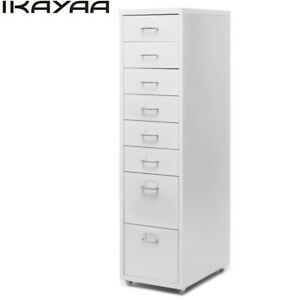 Ikayaatall Metal Storage Cabinet With 5 8 Drawers 4 Casters Office Bedroom Z1h8