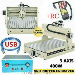 Cnc 3040 Router 3axis Wood Engraving Milling Cutting Machine 400w Engraver rc 3d