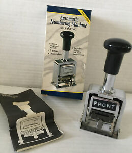 Rogers Automatic Numbering Stamp Machine 7 Different Actions Stamper Only