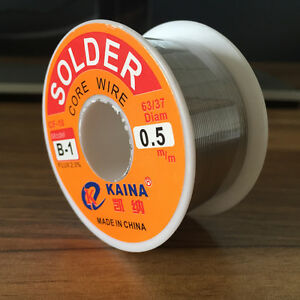 0 5mm Tin Lead Solder Wire Melt Rosin Core Soldering Wire 100g Free Shipping