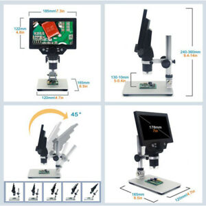 G1200 Digital Microscope 12mp 1200x 1080fhd 7 Lcd Display With V0d4