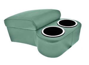 Turquoise Green Bench Seat Console With Drink Holders Musclecar Classic Hotrod