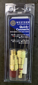 Western Quick Connect Qdb11 Torch To Hose B size 9 16 18 Unf Male Female New