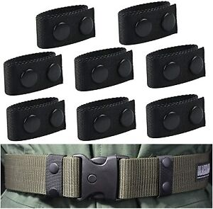 8pcs Duty Nylon Belt Keeper With Double Snaps Security Tactical Belt Fixing