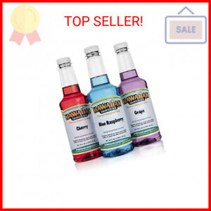 Hawaiian Shaved Ice F140 Snow Cone Syrup 3 Pint Package Multicolor