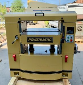 Powermatic Wp2510 Planer 25 Bed Helical Head Digital Readout exc Condition