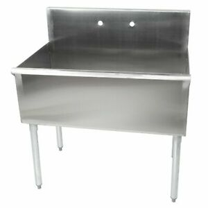 36 X 21 X 14 Stainless Steel Commercial Utility Prep 1 Sink Compartment Bowl