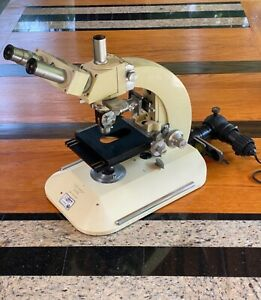 Vintage Reichert Nr 303 227 Austria Research Microscope Collectable
