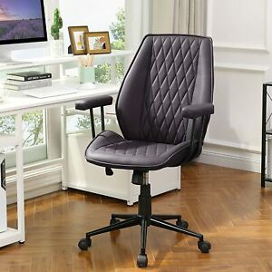 High end Office Leather Executive Desk Chair Swivel Computer Chair Modern Brown