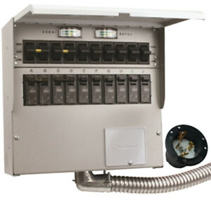 New Reliance R510a Pro tran2 50 amp 120 240v 10 circuit Outdoor Transfer Switch