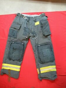 Morning Pride Fire Fighter Turnout Pants 42 X 32 Black Bunker Gear Rescue